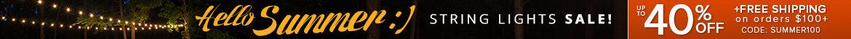 Hello Summer :) String Light Sale!
