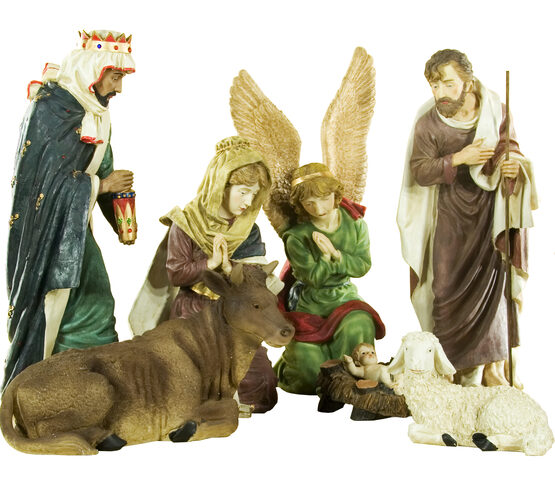 Christmas Nativity Scene Figures, 11 Piece Set