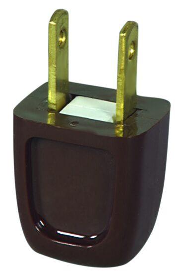 SPT1 Polarized Male Plug, Brown