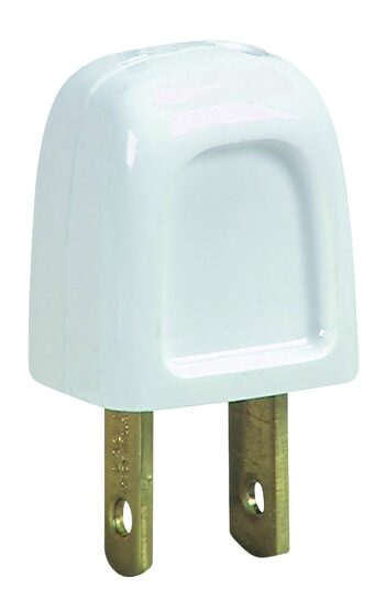 SPT1 Polarized Male Plug, White