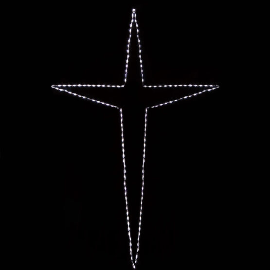Giant Folding Bethlehem Star, Cool White Lights