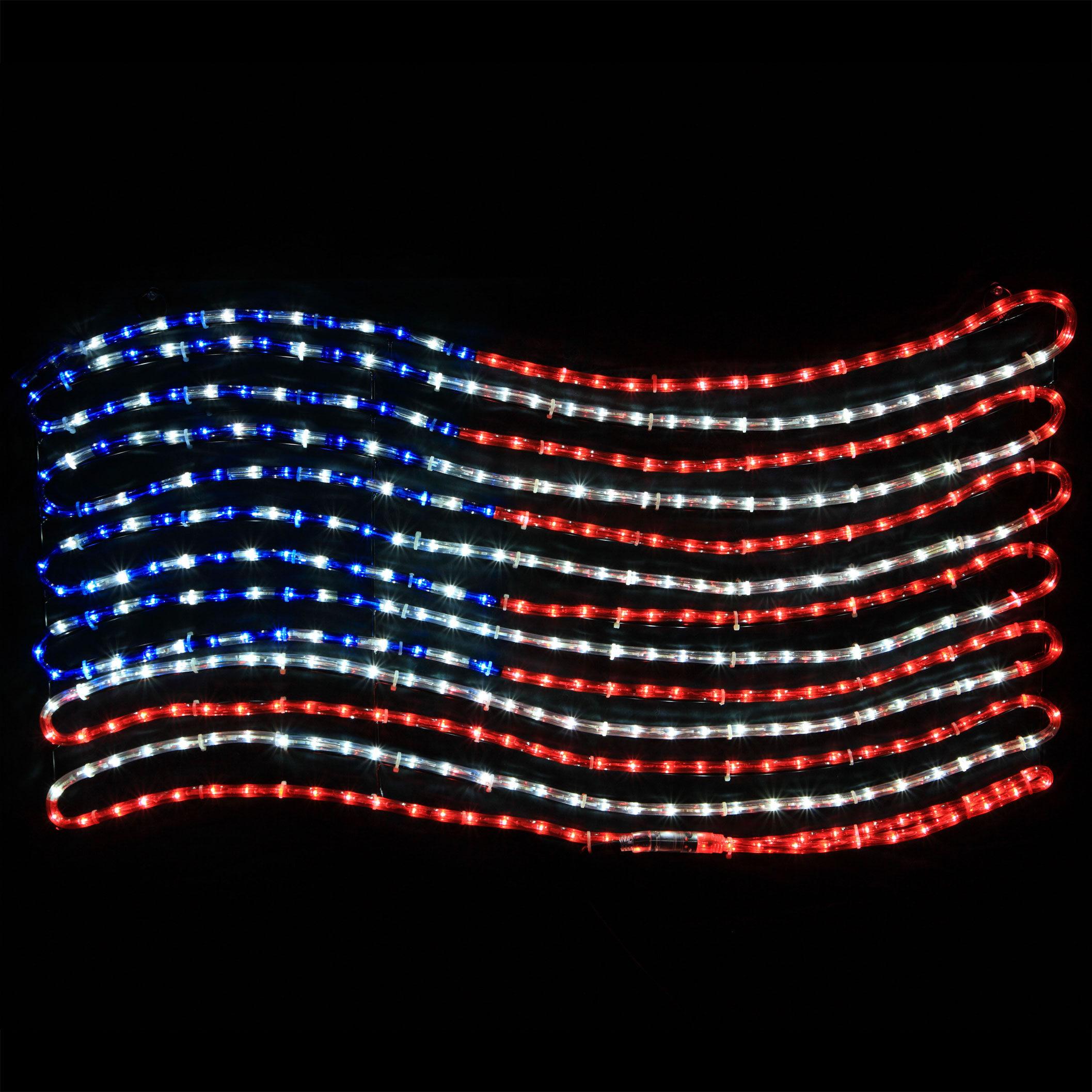 LED Rope Light Patriotic Flag  sc 1 st  Yard Envy & LED Rope Light Patriotic Flag - Yard Envy azcodes.com