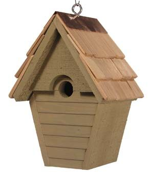 Wren in the Wind Hanging Bird House