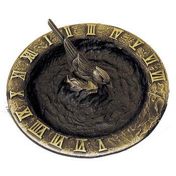Brass Birdbath Sundial