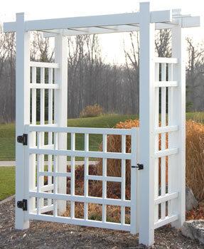 Winford Vinyl Arbor Gate