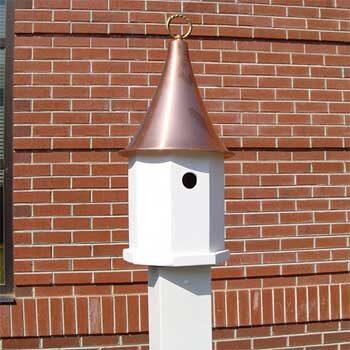 5' Vinyl Birdfeeder Post - Bird House Post