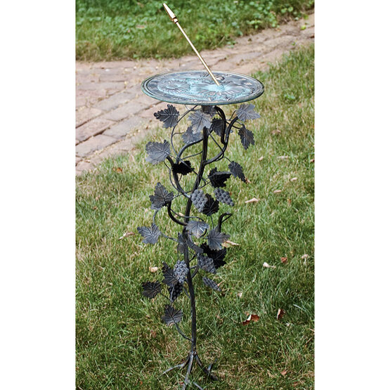Wrought Iron Grapevine Sundial Pedestal Base