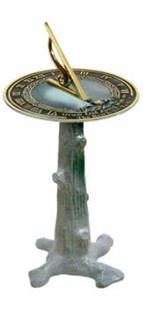 Tree Stump Sundial Pedestal
