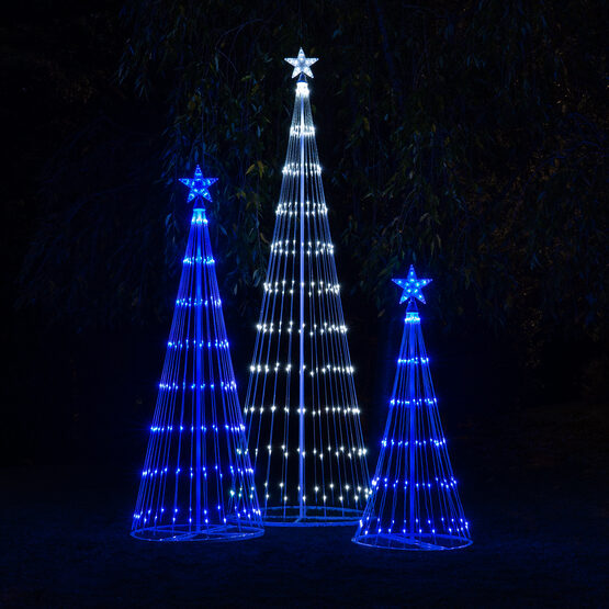 6' Blue LED Animated Outdoor Lightshow Tree