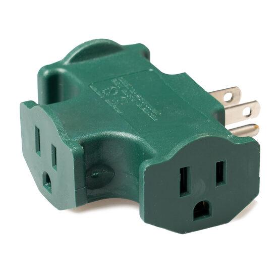 3-Way Splitter Adapter, Green