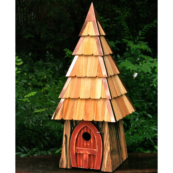 Lord of the Wing Redwood Hobbit Styled Bird House