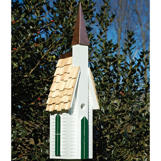 White Plymouth Church Wooden Bird House