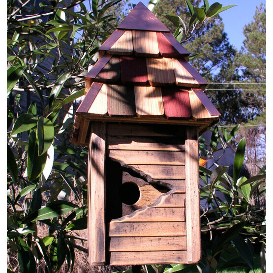 Vintage Gatehouse Rustic Wooden Bird House