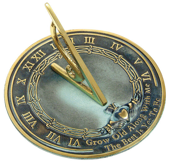 Brass Grow Old With Me Sundial