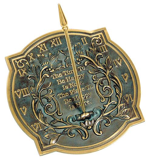 Brass Happiness Sundial