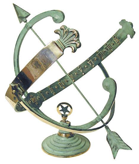 Brass Star Armillary Sundial