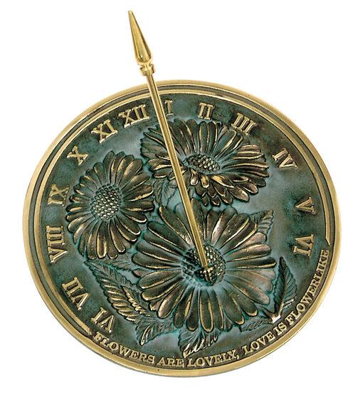 Brass Flowers Sundial