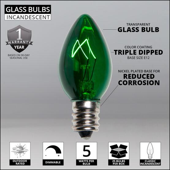 C7 Light Bulb, Green