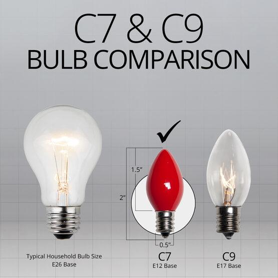 C7 Light Bulb, Red Opaque