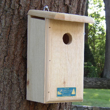 Titmouse, Prothonotary Warbler, and Tree Swallow House