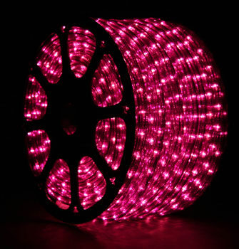 150' Purple Rope Light, 12 Volt, 1/2""