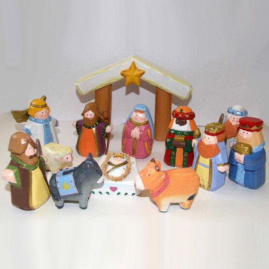 Child's First Christmas Nativity Set, 12 Piece Set