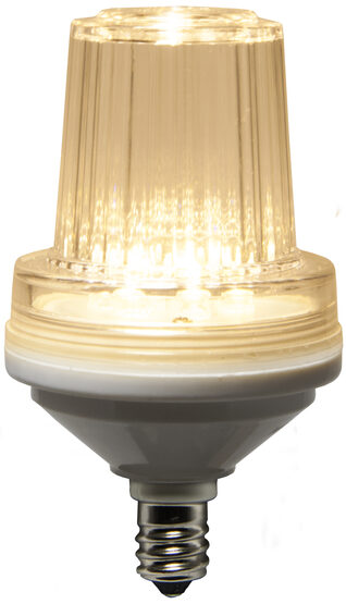 C7 LED Light Bulb, Warm White Strobe