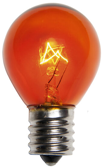 S11 Colored Party Bulbs, Amber