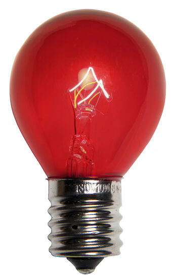 S11 Colored Party Bulbs, Red