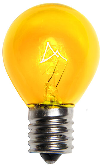 S11 Colored Party Bulbs, Yellow