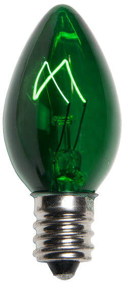 C7 Light Bulb, Green