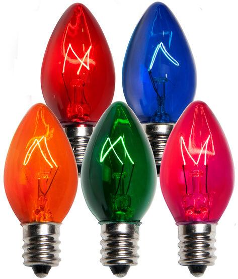 C7 Light Bulb, Multicolor