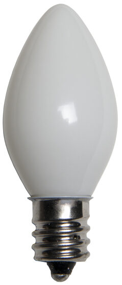 C7 Light Bulb, White Opaque