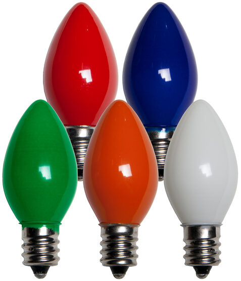C7 Light Bulb, Multicolor Opaque