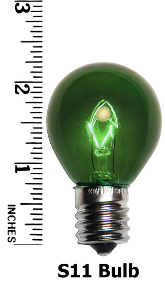 S11 Colored Party Bulbs, Green