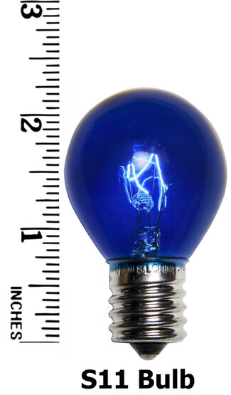 S11 Colored Party Bulbs, Blue