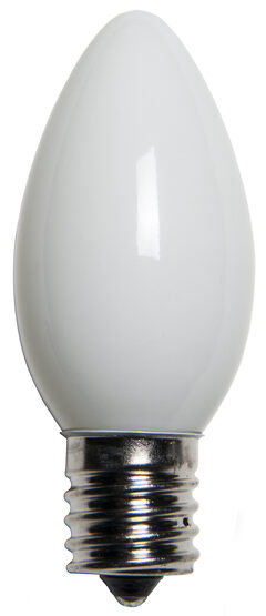 C9 Light Bulb, White Opaque