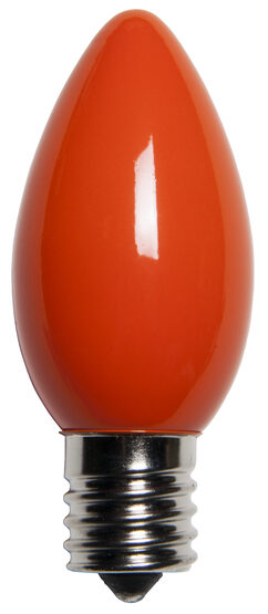 C9 Light Bulb, Orange Opaque