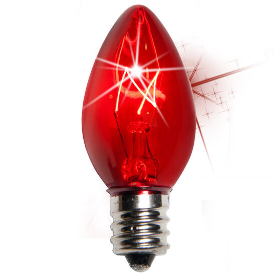 C7 Light Bulb, Red Twinkle