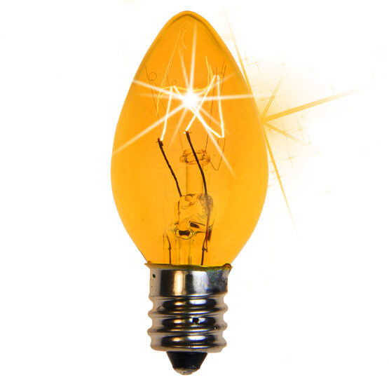 C7 Light Bulb, Yellow Twinkle
