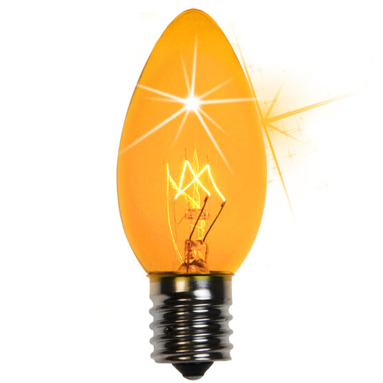 C9 Light Bulb, Yellow Twinkle