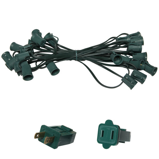 C9 Outdoor Light String, Green Wire
