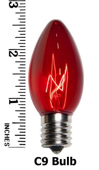 C9 Light Bulb, Multicolor Twinkle
