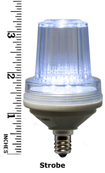 C7 LED Light Bulb, Cool White Strobe