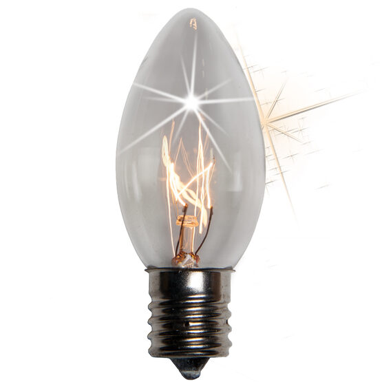 C9 Light Bulb, Clear Twinkle