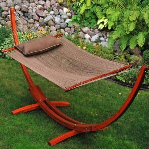 Wooden Arc Fabric Hammock
