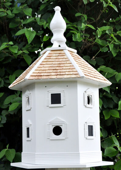 White Danbury DoveCote 6 Room Bird House