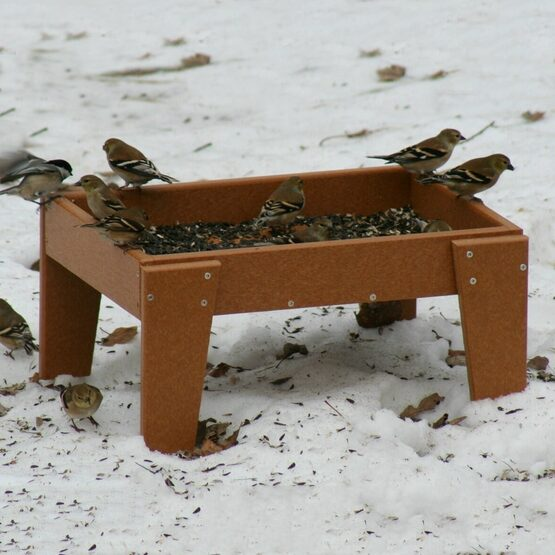 Recycled Ground Bird Feeder