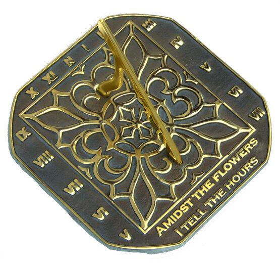 Brass Romanesque Sundial