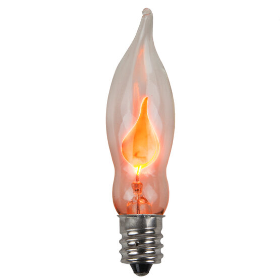 C7 Light Bulb, Orange Flicker Flame